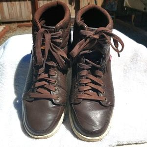 Levi's High Top Men's Brown Work Shoes - size 9